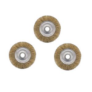 3adet 6 Mini için metal Pas Sökme Cila Fırçası Çelik Döner Brush için İnç Çelik Tel Jant Fırçalar Matkap Döner Aracı