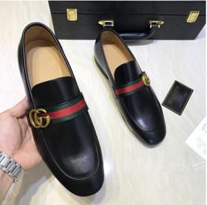 Новые мужские дизайнеры кроссовки из натуральной кожи металлические оснастки гороха свадебные туфли классическая мода мужская обувь большого размера мокасины 38-44 d2a1