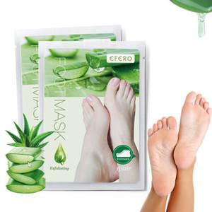 Efero Dead Skin Remover Fußmaske Peeling Fußpflegesocken für Pediküre Peeling Baby Aloe Fußmaske Fußpeeling Maske
