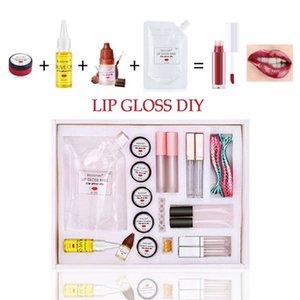 Новый Увлажняющий блеск для губ DIY Kit Материал Lipgloss Базовый гель Пигмент порошок Оливковое масло Flavor Сущность ручной макияж
