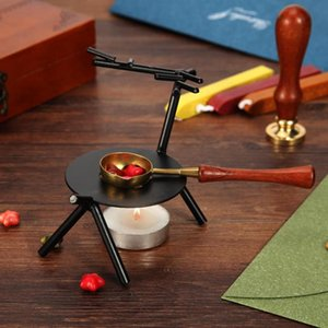 Brass Fire Wax Seal Stamp Copper Wax Stick Vintage Wood Handle Sealing Wax Spoon Small And Exquisite 11.5x3cm Product Size