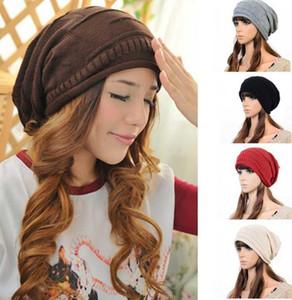 NEUE Art und Weise Frauen-Damen Unisex Winter stricken Plicate Slouch Mütze Hut gestrickter Schädel Beanies beiläufiger Ski 5 Farben geben Verschiffen