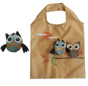 100pcs Shopping Bags Donne carino Gufo a forma di animale pieghevole Shopping Bag ecologico riutilizzabile Tote Bag