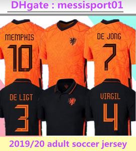 2019 2020 هولندا لكرة القدم بالقميص DE JONG هولندا مجموعات كرة القدم قميص VAN DIJK فيرجيل جيرسي STROOTMAN ممفيس PROMES كرة القدم