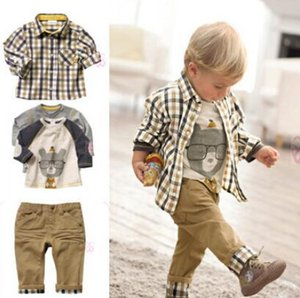 Boys Clothing Spring Autumn Fashion Kids Sets Long Sleeve Shirt Three-piece suit Kids Costume for Boys Children Clothing