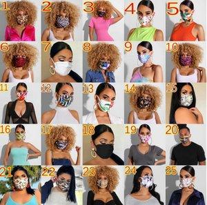 Designer maschere lavabile traspirante lettere stampare Maschera Stampa Maschere Donne Uomini Sunproof antipolvere Ciclismo Sport Outdoor Bocca