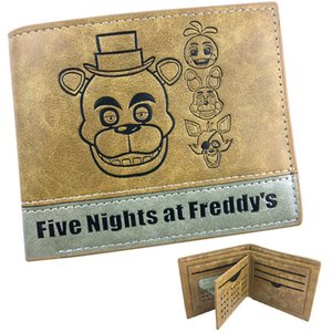 Freddy wallet Five night at Bonnie Chica purse Patchwork game short leather cash note case Money notecase Change burse bag Card holders