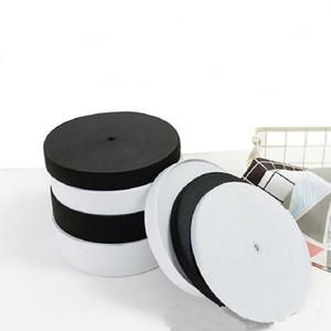 15/20/25/30/35/40/50 / 60mm Blanco / negro rubberpolyester Bandas elásticas más altas cuerdas Ropa de la cinta Pantalones Accesorios de costura DIY