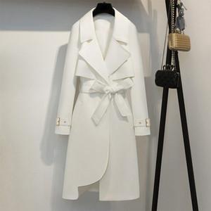 Moda Donna Trench Coat Oversize 2019 nuovo autunno della Corea di stile della cinghia Outwear allentato Windbreaker