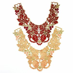 2019 new fashion DIY applique Water soluble embroidery costume decoration neckband Colorful decals accessories