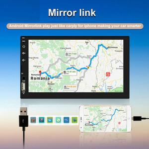 """HD 7"""" Autoradio 2 din schermo autoradio a cassette Recorder tocco audio Bluetooth Rear View Camera lettore MP3 MP5 multimedia"""