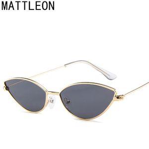 2020 Fashion Cute Sexy Ladies Cat Eye Sunglasses Women Metal Frame Vintage Candy Sun Glasses For Female UV400 Shades