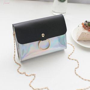 Laser Crossbody Bag For Women Mini Shoulder Bag Small Square Messenger Bag Ladies Handbags Casual Purses Yj