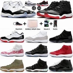 NEW 2020 Jumpman 11 Разводят Concord 45 змеиной Баскетбол обувь 11s UNC Space Jam Инфракрасный Гамма Синий Мужские Кроссовки Спортивные тапки с коробкой