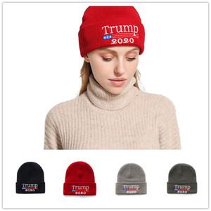 2019 Herbst und Winter neue amerikanische Trump Stickerei 2020TRUMP Strickmütze warme beiläufige Wollmütze JXW529
