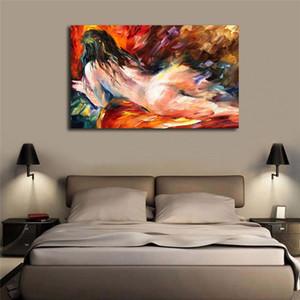 Pinturas De Mujeres Desnudas Figura Desnuda Sueños Pintura de la Lona Imprimir Dormitorio Decoración Del Hogar Moderno Arte de La Pared Pintura Al Óleo Cartel Ilustraciones