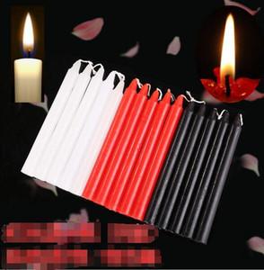 Negro Velas domésticas iluminación de velas diarias Decorar libre de humo vela romántica de la boda larga Polo Classic Velas Blanco Rojo