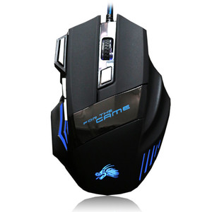 2019 Professional 5500 DPI Gaming Mouse 7 boutons LED optique Souris filaires USB pour Pro Gamer Computer X3 Mouse de opec