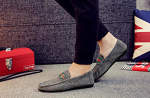 남자 신발 영국 트렌드 캐주얼 레저 가죽 신발 통기성 남성 풋어로 퍼스 남성 캐주얼 신발 유럽 신발 크기 : 39-44