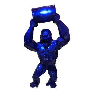 """Big 16"""" King Kong Creative Décoration Art Artisanat Simulation animale Statue Résine Gorilla Buste Figure de collection Modèle ornements Toy BOX"""