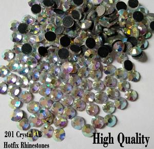 Strass super glitter crystal abs diverse dimensioni hot fix rhinestone posteriore posteriore strass tessuto cucito tessuto indumento
