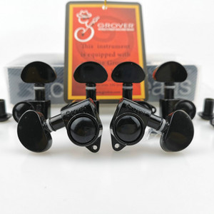 New Grover Tuning Pegs Electric Guitar Machine Heads Tuners 1Set 3R-3L Black ( With packaging )