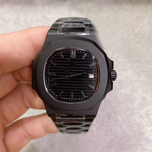 Limited Edition Movimento automático 5711 Men Watch cristal de safira Black Dial Relógio Masculino 316 Banda Inox frete grátis