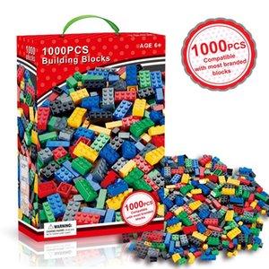 1000 Pièces Modèle de construction Kits classiques Blocs de bricolage Jouets Briques en vrac Creative Figures d'éducation pour enfants Enfants Compatible Toutes les marques