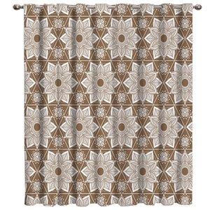 Brown Mandala Finestra tende scure Tenda Rod Bagno tende oscuranti all'aperto letto Cucina interna Tessuto Decor Curtain