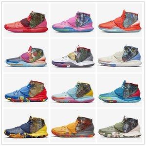 2020 pré-chaleur NYC Miami Houston hommes de basket-ball Chaussures Kyrie 6 Tokyo guérir le monde Designer Sneakers CN9839-100-404-401