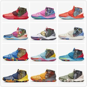 2020 Pre-Heat NYC Miami Houston Herren-Basketball-Schuhe Kyrie 6 Tokyo Heal The World Designer-Turnschuhe CN9839-100-404-401