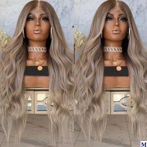 Pré arrancada Ombre cheia do laço perucas de cabelo humano com o bebê 150Density Cabelo Glueless 4x4 Silk Base de rendas frente Wigs da Mulher Negra