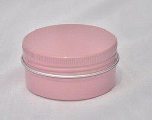 50g 50ml Rose en métal Tôle ronde en aluminium peut rose bocaux à cosmétiques couvercle couvercles sourcils Eyeliner crème cire Conteneur Stockage Savon