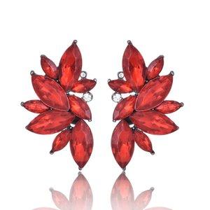 꽃 매달린 귀걸이 Tiered Floral Drop Stud Earrings 귀 접는 파티 용