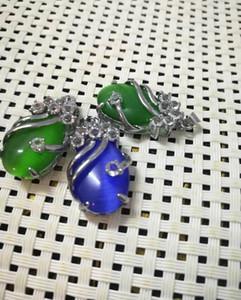 femminile ciondolo smeraldo goccia Emerald Necklace consegna gratuita v2