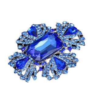 Abito da sposa delle donne di trasporto di goccia di cristallo Spille strass per le donne argento placcato Croce Spille Pins 6pcs accessori gioielli / lot5