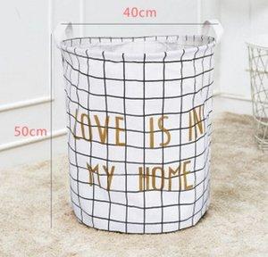 Bolsas cestas de almacenamiento de lavandería INS conservación impresa de dibujos animados Bins Cubo plegable de habitaciones Ropa Niños Organizador Bolsa de lavandería 15 diseños LQPYW472