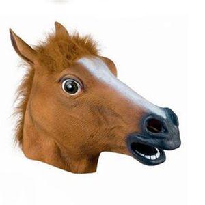 Halloween Pferdekopfmaske Tier Headset Jiangnan-Art Hund Pferd Juni Pferd Maske Brown Horse Mask