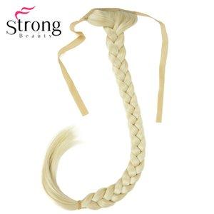 الشعر الشعر المستعار StrongBeauty شقراء طويل ذيل السمكة جديلة ذيل حصان التمديد كليب الاصطناعية في اختيار لون هيربيسي