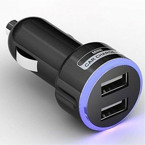 Dual USB del cigarrillo del cargador del adaptador de alimentación de 12V encendedor del coche zócalo cargador móvil