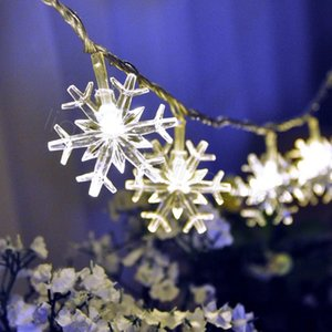 Noel dekorasyonu pil FFA3295 olmadan 3 metre 20 adet sıcak ışıklar parti sahne ışıkları açık LED kar tanesi düğün oda bar ışıkları