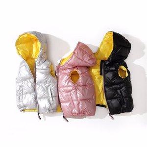 2-8 anos de idade do bebê para baixo de algodão Meninos Meninas Vest Moletom Colete Casacos Casacos de inverno para as crianças roupa morna Jackets
