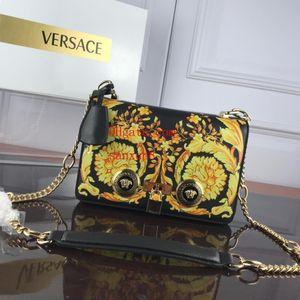 fascia alta borsa elegante Messenger Bag lettera Stampa in pelle stile decorativo metallo Totes borsa Sac à principali borse a spalla Crossbody guc-c8