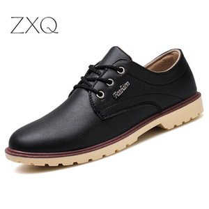 Men Office Black Brown Oxford Lace Up Men Leather Dress Shoes Pointed Toe Business Formal Shoes
