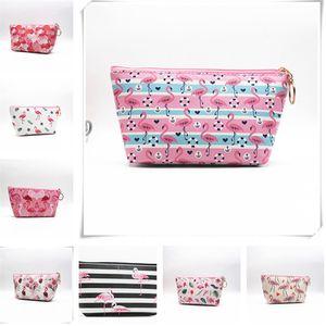 Women Bag Flamingo Printed Cartoon Ladies Cosmetic Bag Makeup Bag Dumpling Large Capacity Portable Storage Toiletry Bags Zip Pouch D22903