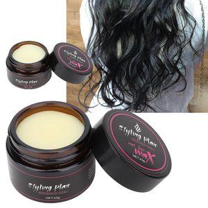 Wet Wax Hair 20g forte attente Long Lasting Effecrt Plante Beurre de Karité Ingrédients naturels Hairdress Pommade Clay Barbiers Salon pour Hommes Femmes