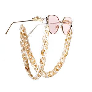 Euro-Am Hotsale Mehrfarben Acryl wulstige Brillen Kette Vintage-Brillen Seil-Kette