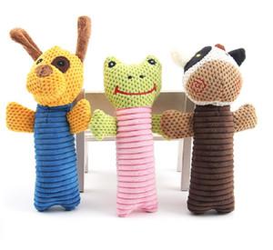 Pet Chew Toy jouets pour chiens Puppy dents dentaires Gommes résistant aux morsures Velours de maïs marionnettes Pet Biting Sound Toy Chien Peluche
