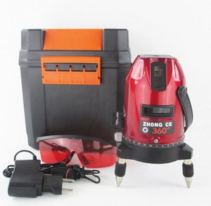 5 lines 6 points laser level, 360 degree rotary cross laser line level,with outdoor mode and tilt mode free shipping