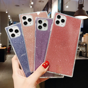2 layers Hybrid glitter case for iPhone models TPU drop-proof case mobile phone protective shell,4 colors available
